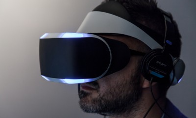 Sony unveiling Morpheus, its Virtual Reality headset for PlayStation 4 for the first time at GDC 2014 on March 20, 2014 in San Francisco, CA