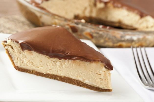 Gourmet Peanut Butter Pie on a Background