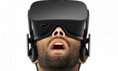 man with dark complextion wearing oculus rift