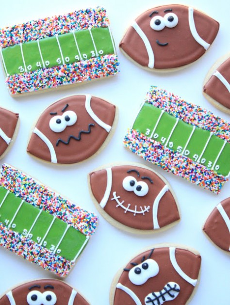 Football and Field Cookies
