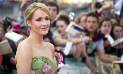 JK Rowling arriving for the World Premiere of 'Harry Potter & the Deathly Hallows pt2', Trafalgar Square, London