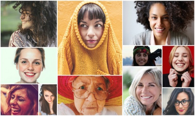 Beautiful Women Diverse Collage