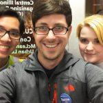 minh preston and callista campaigning for Bernie Sanders