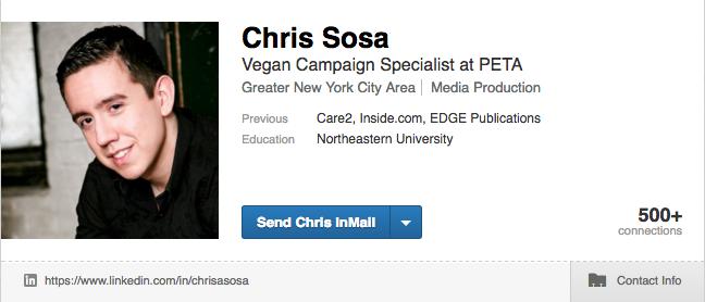 Chris Sosa Linkedin Profile