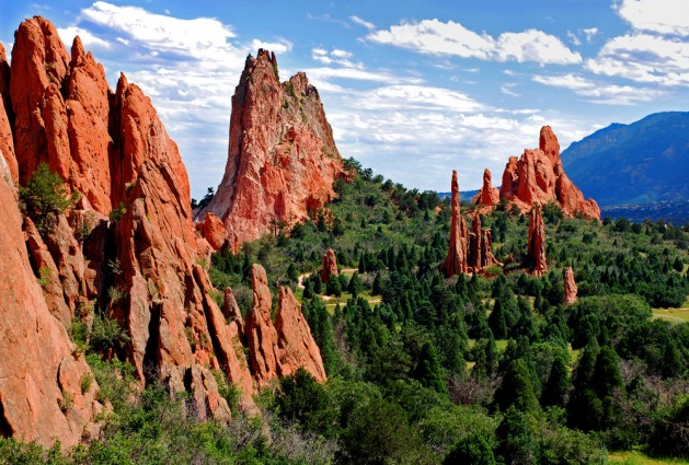 Panoramic view of Garden of the Gods