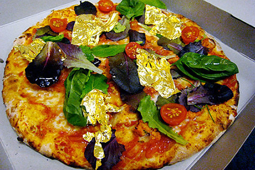 White Truffle and Gold Pizza