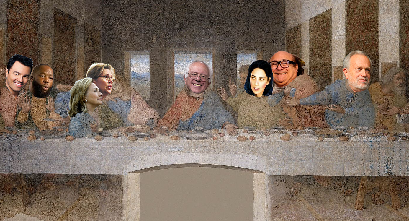 bernie sanders is jesus in the last supper
