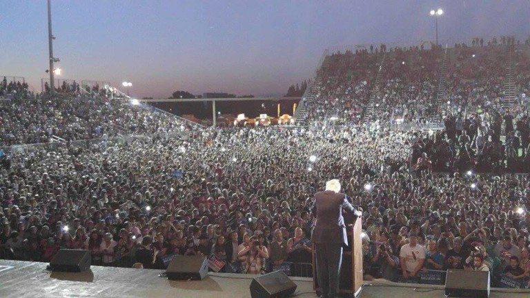 Bernie Sanders Sacramento rally