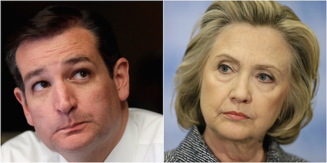 Ted Cruz and Hillary Clinton