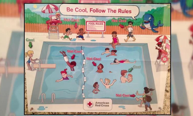 Racist Red Cross Poster
