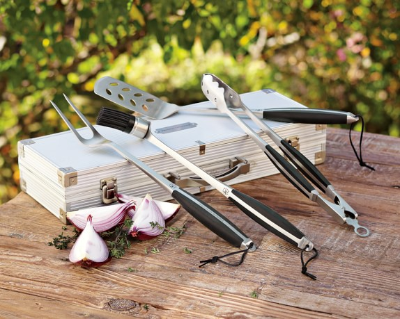 monogrammed BBQ tool set