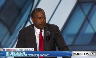 Ben Carson at the Republican National Convention, Cleveland OH July 19, 2016