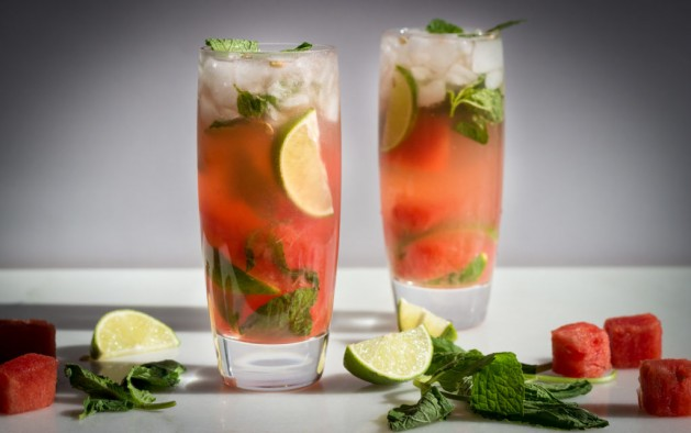 Healthy Watermelon Mojitos Large