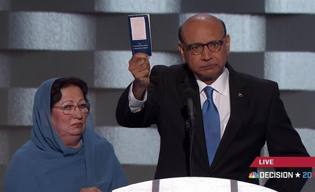 Khizr Khan address the Democratic National Convention