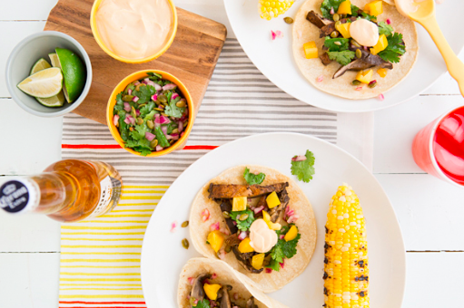 Beer-Marinated Grilled Mushroom Tacos with Pepita Relish & Chipotle Crema Read more at http://ohmyveggies.com/beer-marinated-grilled-mushroom-tacos-with-pepita-relish-chipotle-crema/#yTYycftp4BYv6IH4.99