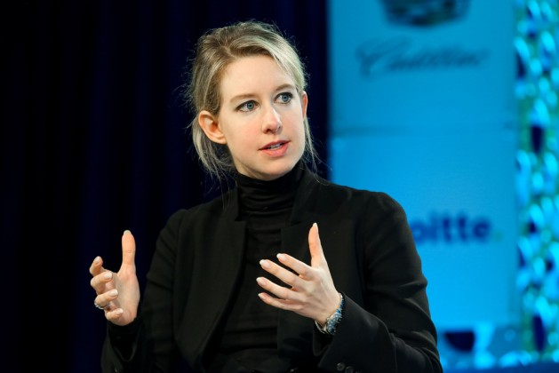 Executive Officer of Theranos Elizabeth Holmes speaks at Fortune Most Powerful Women Conference