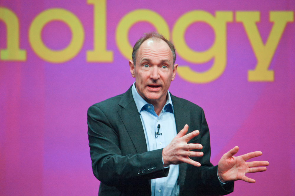 ORLANDO, FLORIDA - JANUARY 18- Inventor and founder of World Wide Web Sir Tim Berners-Lee delivers an address to IBM Lotusphere 2012 conference on January 18, 2012 in Orlando, FL. He speaks about social We
