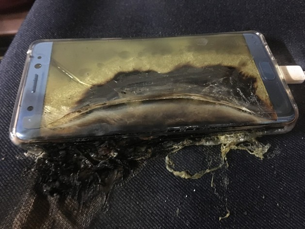 Samsung Galaxy Note 7 Melted