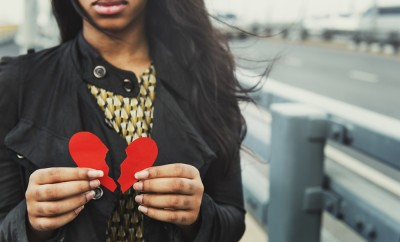 Girl Breakup Heart Broken Concept