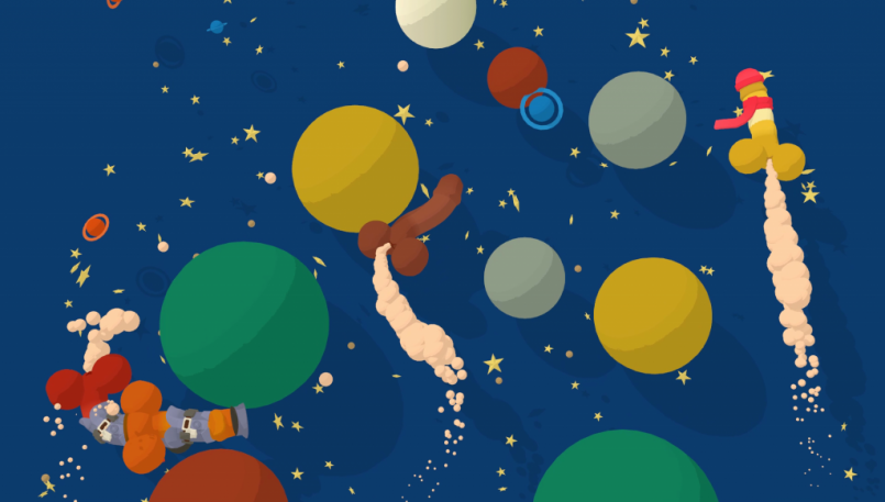 Genital Jousting Space Race