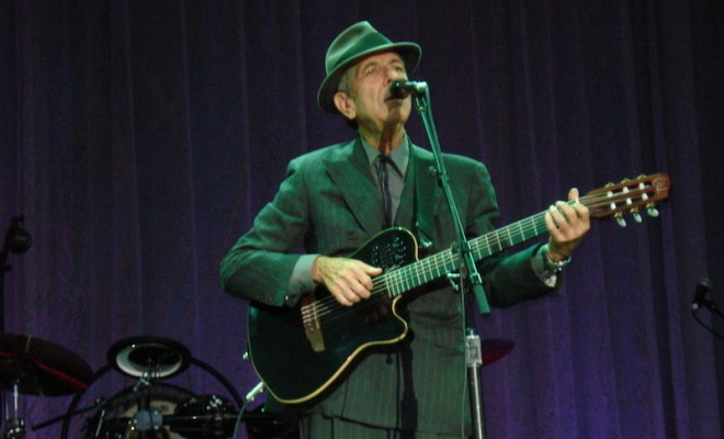DUBLIN - JUNE 14: Singer Leonard Cohen performs onstage at Kilmainham Royal Hospital June 14th, 2008 in Dublin, Ireland