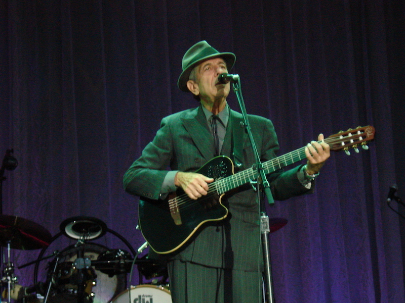 DUBLIN - JUNE 14: Singer Leonard Cohen performs onstage at Kilmainham Royal Hospital June 14th, 2008 in Dublin, Ireland