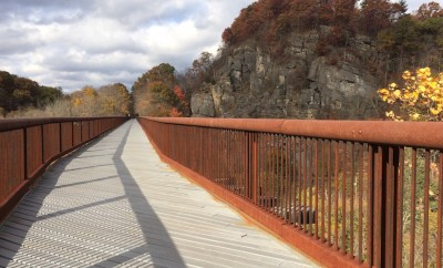 rosendale trestle hudson valley new york trail in fall