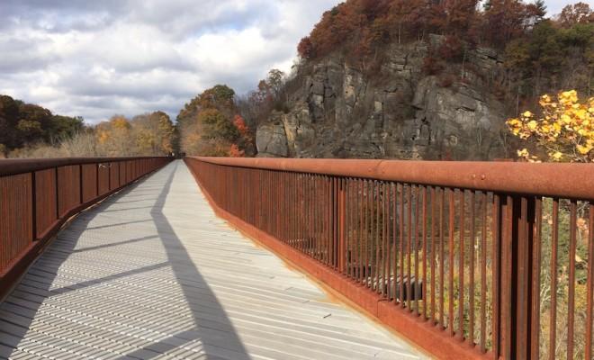 rosendale trestle hudson valley new york trail in fall