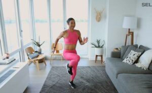 at-home workout and fitness for women