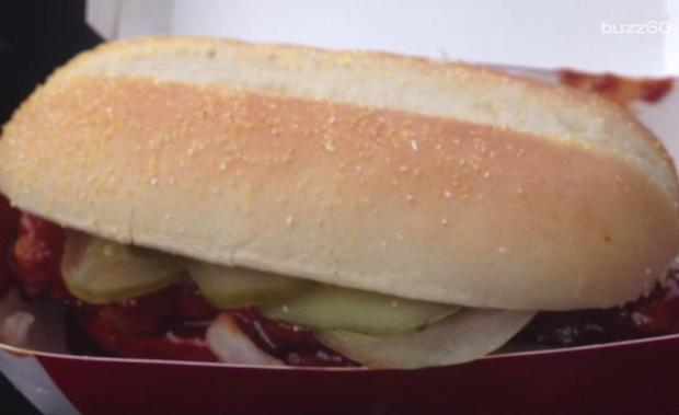 McRib Sandwich at McDonald's