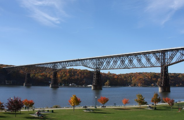 View of the Poughkeepsie Railroad Bridge, also known as Walkway over the Hudson.