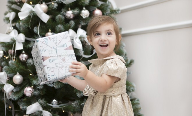 the-child-receives-a-christmas-gift
