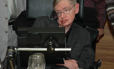 Tel Aviv, Israel, Dec, 12, 2006: Professor Stephen Hawking is visiting Tel Aviv university, and having a dinner with the physics faculty members