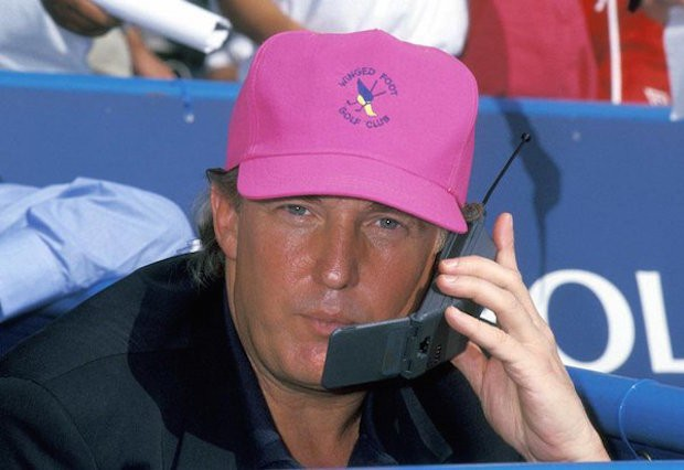 trump on a cell phone