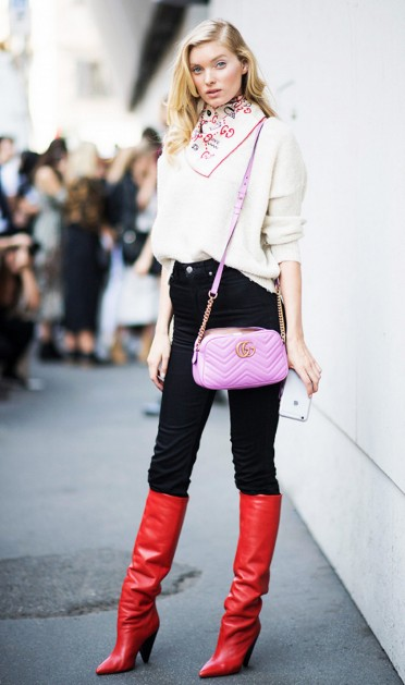model street style colorful shoes