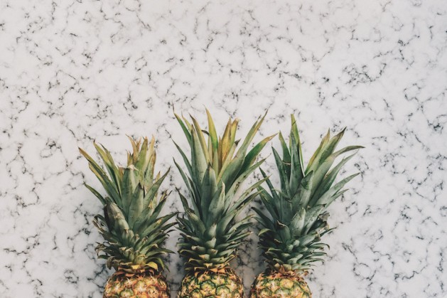 how to get over it, pineapples, still life