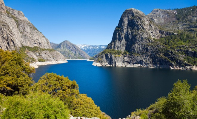 Beautiful View of Hetch Hetchy Reservoir in Yosemite National Park, California.