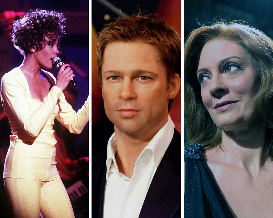Whitney Houston, Brad Pitt, Susan Sarandon