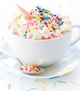 unicorn food hot chocolate