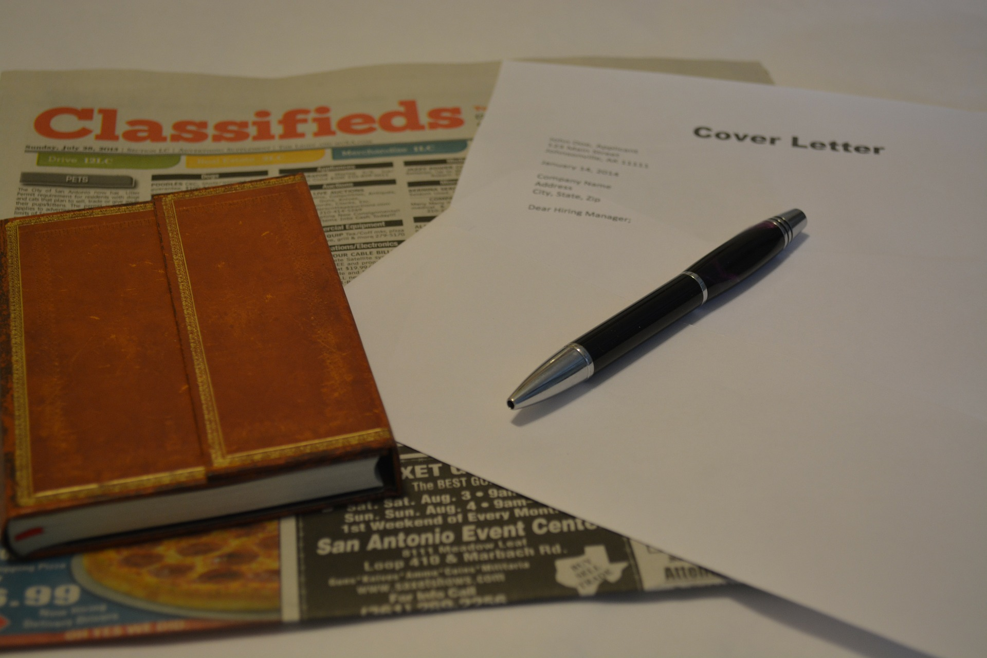 Resume cover letter and newspaper classifieds