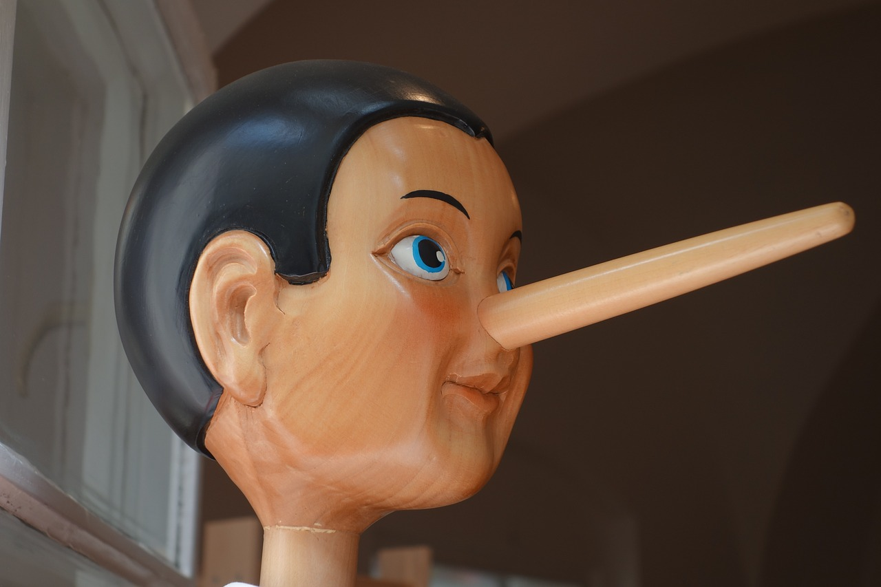 Pinocchio with long nose