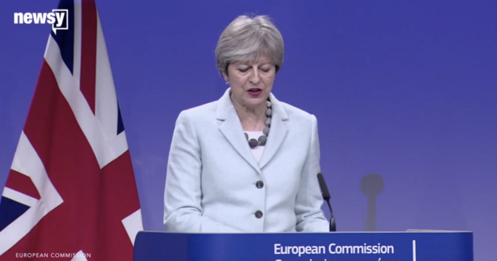 Theresa May Brexit - Fair use screenshot from embedded video