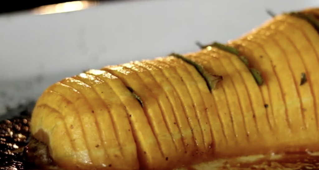 Hasselback Butternut Pumpkin Recipe