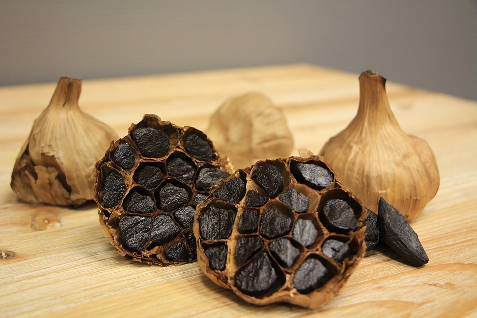 black garlic used to make black garlic aioli