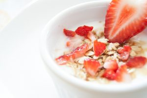 what is oat milk? milk in oats with strawberries